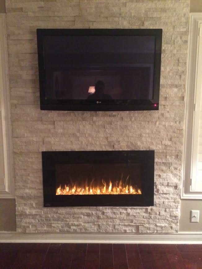 Another Beautiful Fireplace Install At One Of Our Employees Home